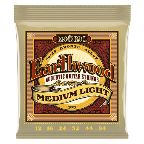 Ernie Ball Ernie Ball - Earthwood  Med. Light - 80/20 Bronze - 12-54