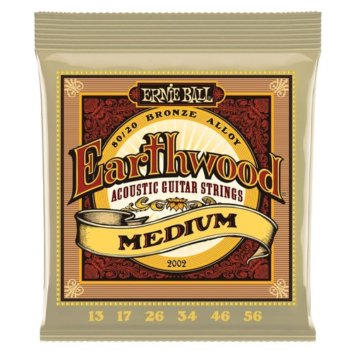 Ernie Ball Ernie Ball - Earthwood  Medium - 80/20 Bronze -13-56
