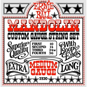 Ernie Ball Ernie Ball - Mandolin Custom - Medium 10-36