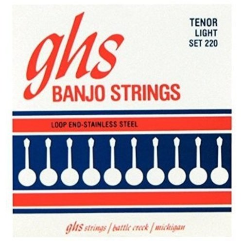 GHS GHS - Banjo - Tenor Light Strings  - Stainless Steel