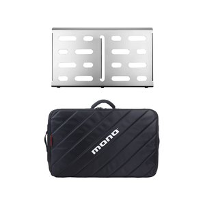 Mono Cases Mono - M80 Pedal Board - Medium with M80 Tour 2.0 Case - Silver