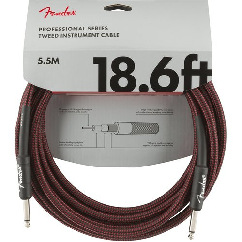 Fender Fender - Professional - Instrument Cable - 18.6'ft - ST/ST - Red Tweed