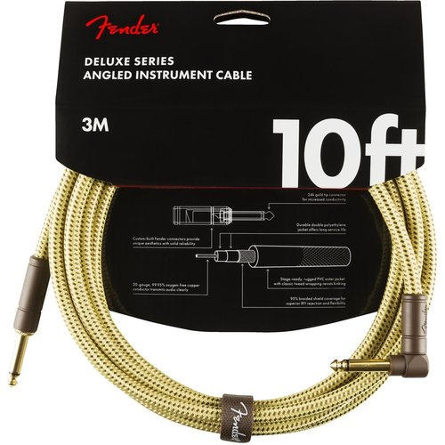 Fender Fender - Deluxe - Instrument Cable - 10'ft - RA/ST - Tweed