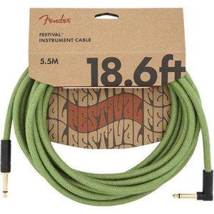 Fender Fender - Festival Hemp - Instrument Cable - 18.6'ft - RA/ST - Green