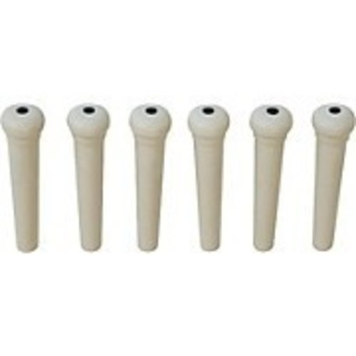 Allparts Allparts - Acoustic Bridge Pin - Dotted - White - EACH
