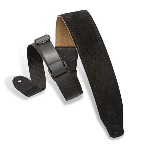 Levy's Leathers Levy's -  2″ Wide Suede Right Height Guitar Strap - MRHSP-BLK