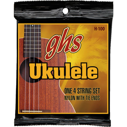 GHS GHS - Ukulele Strings -  Baritone Nylon/Silverwound - H-100