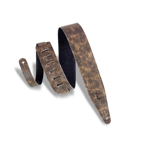 """Levy's Leathers Levy's - 2.5""""  Garment Leather Guitar Strap - MG317BOG-BRN"""