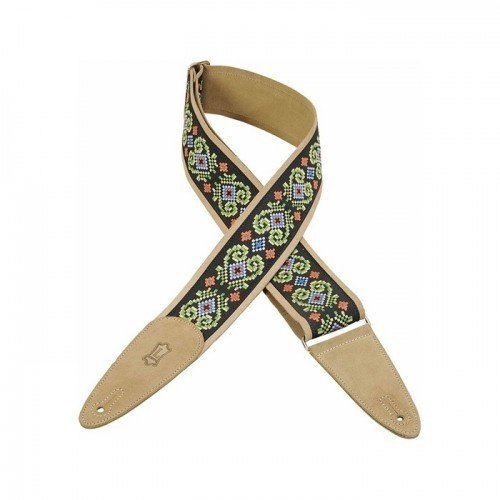 """Levy's Leathers Levy's - 2 1/2"""" Suede and Jacquard Guitar Strap - MSJ2-008"""