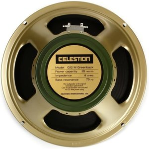 "Celestion Celestion - Speaker 12"", G12M-8 - Greenback, 25 watts - 8ohm"