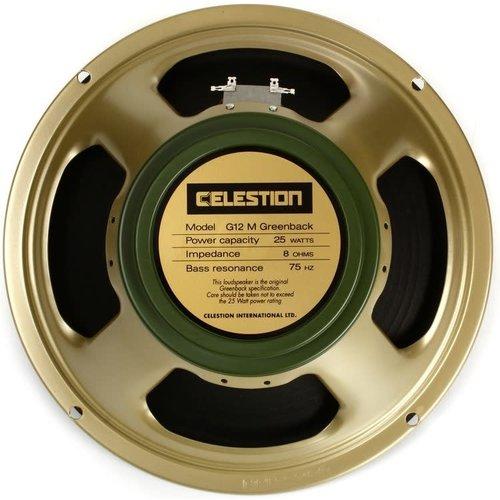 "Celestion Celestion - Speaker 12"", G12M-8 - Greenback, 25 watts - 8ohm"