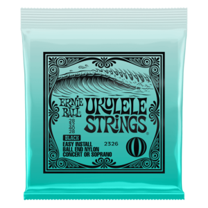 Ernie Ball Ernie Ball -  Ukulele Strings - Soprano/Concert - Ball End - Black
