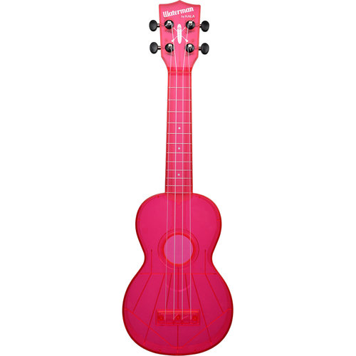 Kala Music Makala - Waterman - Soprano Acoustic Ukulele -  Fluorescent - Watermelon Pink
