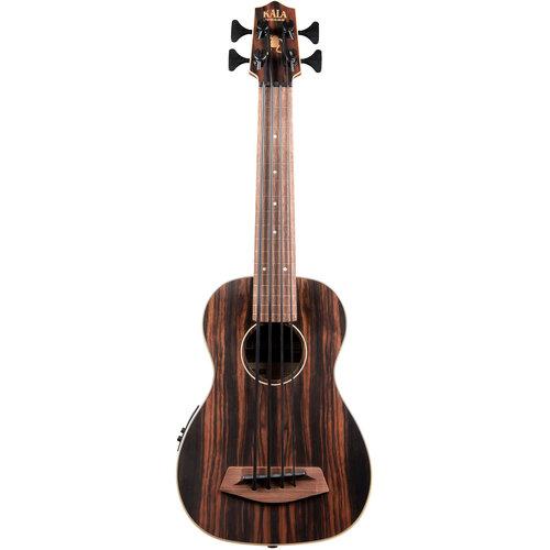 Kala Music Kala - U-Bass - Striped Ebony - Fretless with gig bag