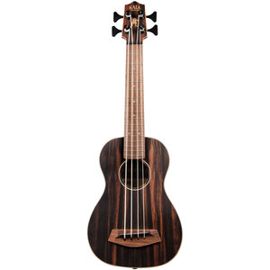 Kala Music Kala - U-Bass - Striped Ebony with Round Wounds  - Fretted  with gig bag