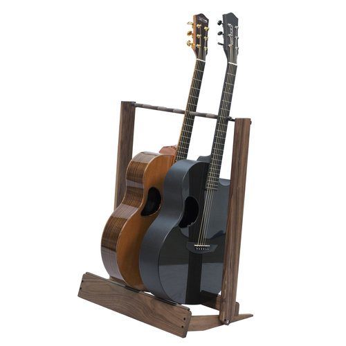 String Swing String swing - Guitar Rack - Wood Base - Black Walnut (6 Electric Guitars)