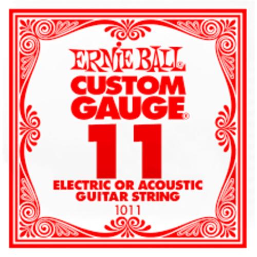Ernie Ball Ernie Ball -  Plain Steel - Acoustic or Electric Guitars Single String - .11