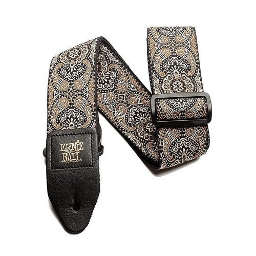 Ernie Ball Ernie Ball - Gold and Black Paisley Jacquard - Guitar Strap