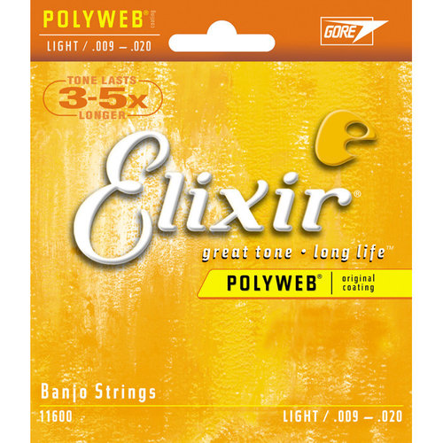 Elixir Elixir - Banjo Strings  Light - 9-20