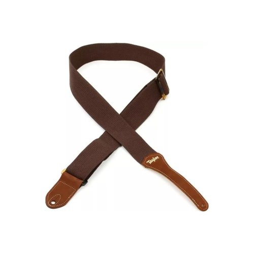 "Taylor Guitars Taylor - Cotton 2"" - Guitar Strap - Chocolate Brown"