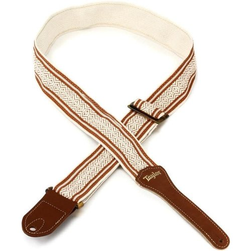 "Taylor Guitars Taylor - Jacquard Cotton 2"" - Guitar Strap - White/Brown"