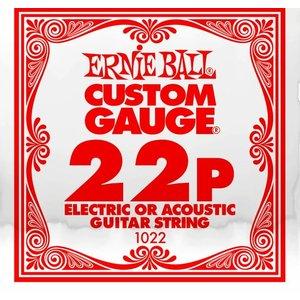 Ernie Ball Ernie Ball -  Plain Steel - Acoustic or Electric Guitars Single String - .22
