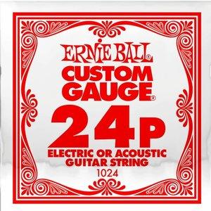 Ernie Ball Ernie Ball -  Plain Steel - Acoustic or Electric Guitars Single String - .24
