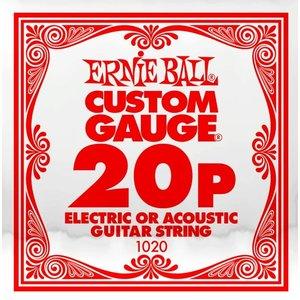 Ernie Ball Ernie Ball -  Plain Steel - Acoustic or Electric Guitars Single String - .20