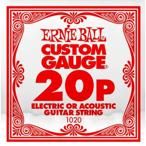 Ernie Ball Ernie Ball -  Plain Steel - Acoustic or Electric Guitars Single String - .20
