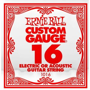 Ernie Ball Ernie Ball -  Plain Steel - Acoustic or Electric Guitars Single String - .16