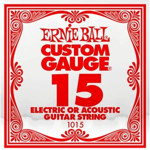 Ernie Ball Ernie Ball -  Plain Steel - Acoustic or Electric Guitars Single String - .15