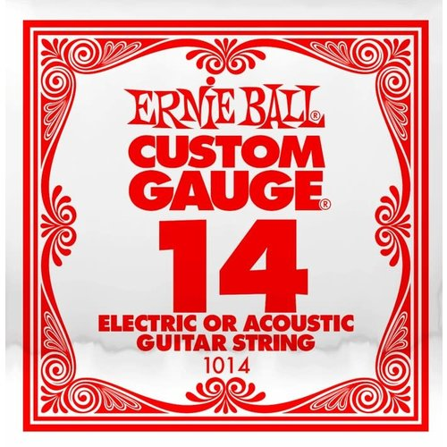 Ernie Ball Ernie Ball -  Plain Steel - Acoustic or Electric Guitars Single String - .14