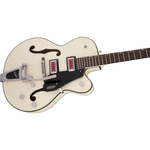 "Gretsch Gretsch - G5410T - Electromatic ""Rat Rod"" Hollow Body Single Cut with Bigsby - Matte Vintage White"
