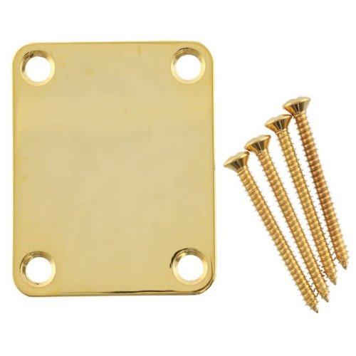 Allparts Fender - Neck Plate - Plain - Gold