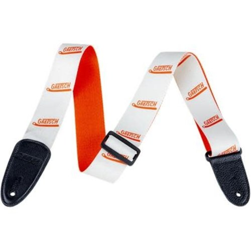 Gretsch Gretsch - Gretsch Vibrato Arm Strap - White and Orange