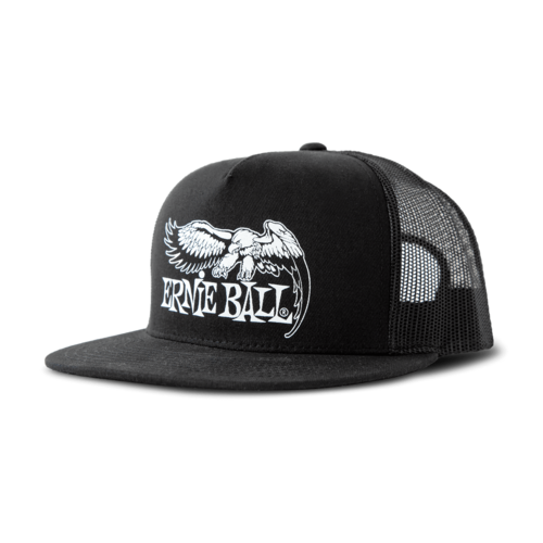 Ernie Ball Ernie Ball - Eagle Logo Hat - Black with White Logo