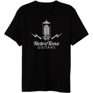 Retro Tone Guitars - T-Shirt - Tube Logo - Black