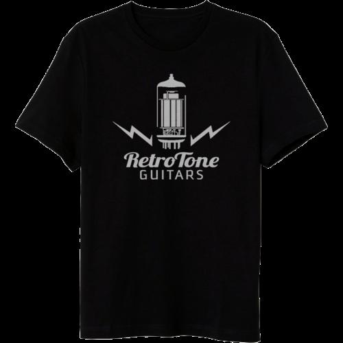 Retro Tone Guitars - T-Shirt - Tube Logo - Black