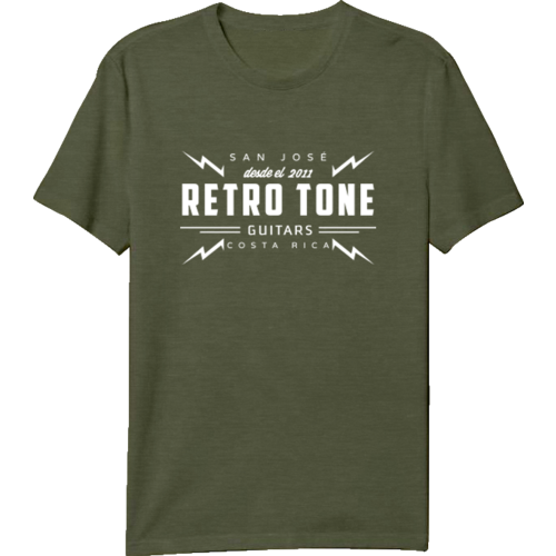 Retro Tone Guitars - T-Shirt - Green Military