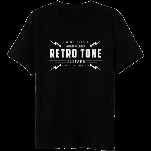 Retro Tone Guitars - T-Shirt - Black/Cream - Special Logo