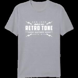 Retro Tone Guitars - T-Shirt - Grey/Cream - Special Logo  Men 3XL