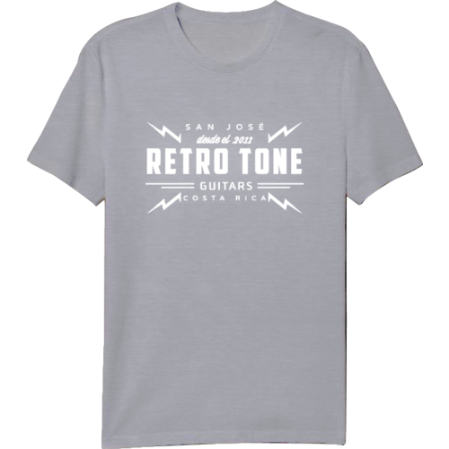 Retro Tone Guitars - T-Shirt - Grey/Cream - Special Logo  Men 3XL