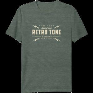 Retro Tone Guitars - T-Shirt - Green Marbled