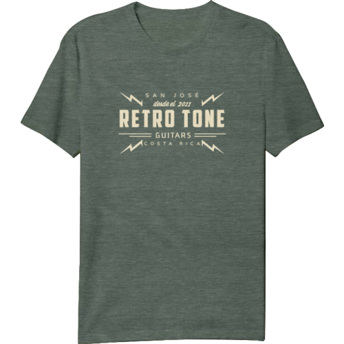 Retro Tone Guitars - T-Shirt - Green Marbled