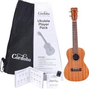 Cordoba Guitars Cordoba - Ukulele Player Pack - Concert Ukulele  - Mahogany Natural