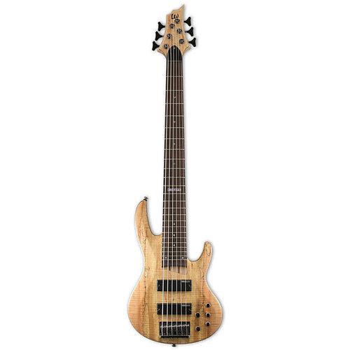 LTD - ESP Guitars LTD - B-206 - Spalted Maple - 6 String Bass - Natural See Thru