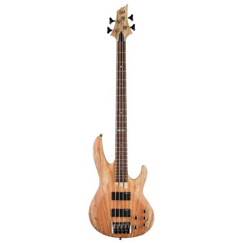 LTD - ESP Guitars LTD - B-204 - Electric Bass - Spalted Maple Natural Satin