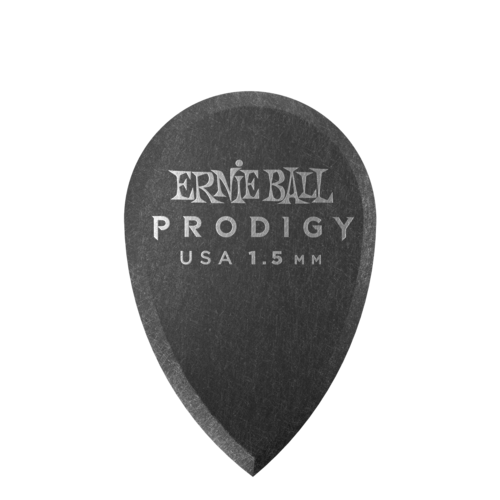 Ernie Ball Ernie Ball - 6 Pack Prodigy Picks - Black Teardrop - 1.5mm