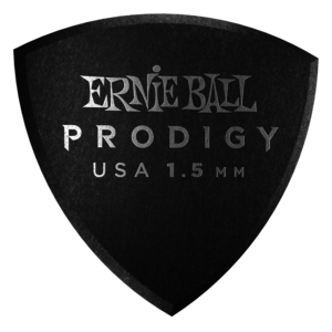 Ernie Ball Ernie Ball - 6 Pack Prodigy Picks - Black Large Shield - 1.5mm
