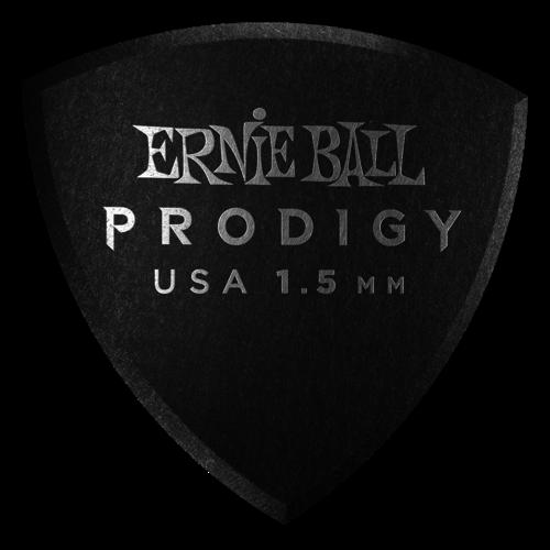 Ernie Ball Ernie Ball - 6 Pack Prodigy Picks - Black Large Shield - 1.5mm
